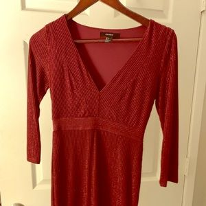 Forever 21 holiday sparkle long sleeve dress